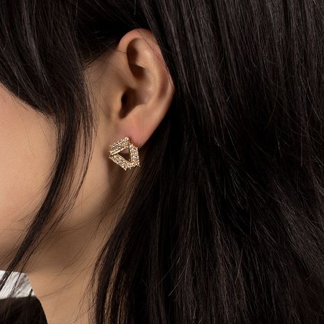Triangle girls Korean fashion wild small exquisite simple small exquisite earrings NHRN259955's discount tags