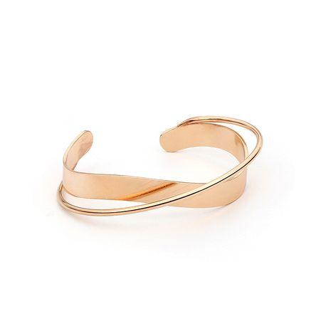 Bracelet en cuivre pour femmes irrégulières à variation géométrique ouverte NHRN259959's discount tags
