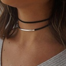 Multilayer Korean Velvet Arc Choker Double Collar Gothic Black Punk style Necklace Jewelry NHRN259963