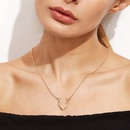 Simple fashion simple antler alloy necklace short clavicle chain for women NHRN259966