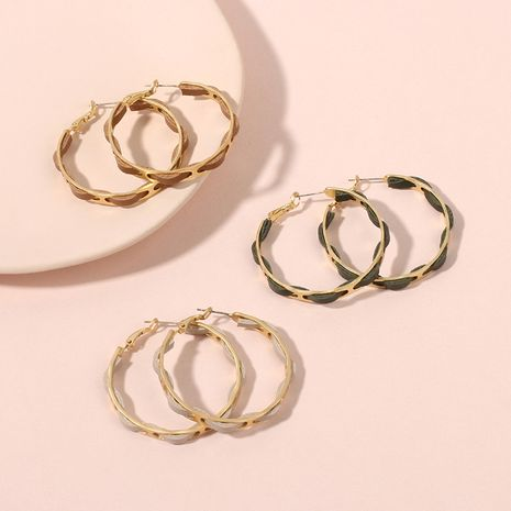 Fashion new retro exaggerated big circle PU leather earrings NHRN259975's discount tags