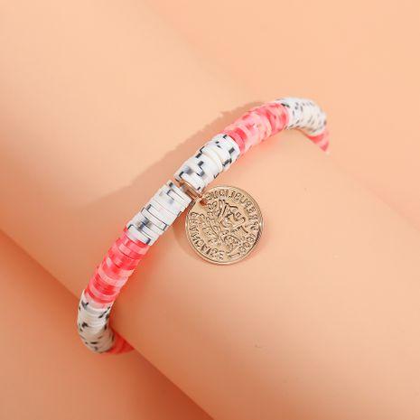 nouveau bracelet de corde élastique de perle de poterie douce de couleur de coquille de gland de style de plage bohème NHLL259999's discount tags