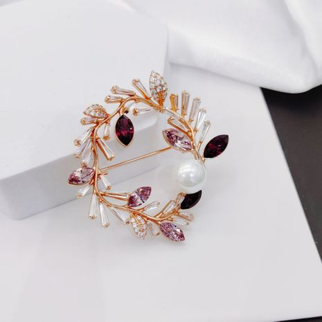 Korean fashion crystal brooch wild sweater accessories ladies copper corsage suit pins NHLJ260024's discount tags