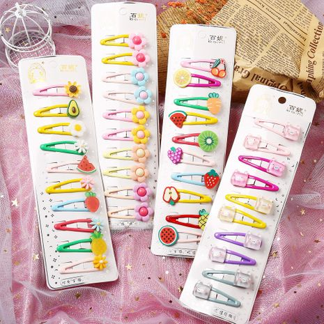 Hot selling fashion multi-element mixed color children's hair clip set   NHYI260032's discount tags