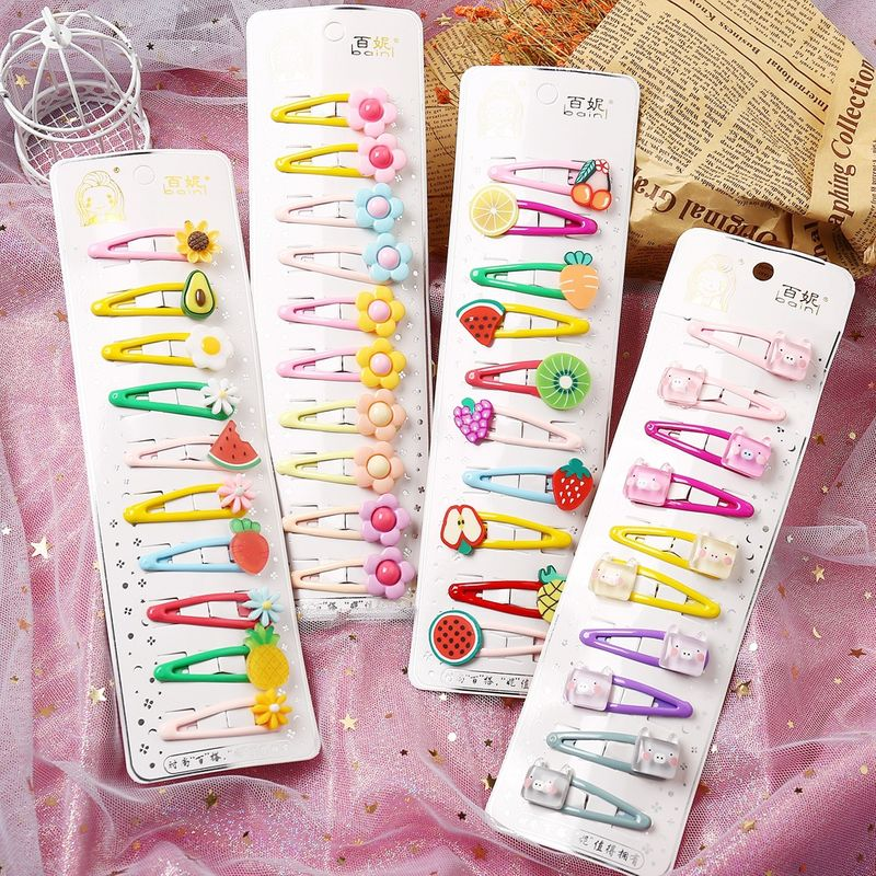 Hot selling fashion multi-element mixed color children's hair clip set   NHYI260032