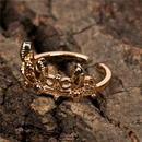 new fashion retro old ring tide crown opening index copper finger ring NHPY260040