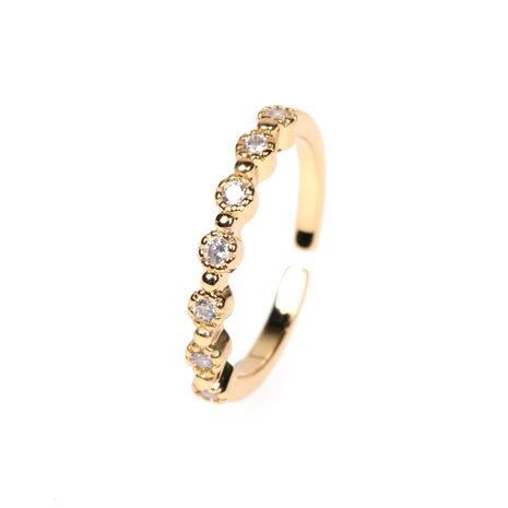 Fashion women's ring niche diamond open index finger ring classic tail ring NHPY260038's discount tags
