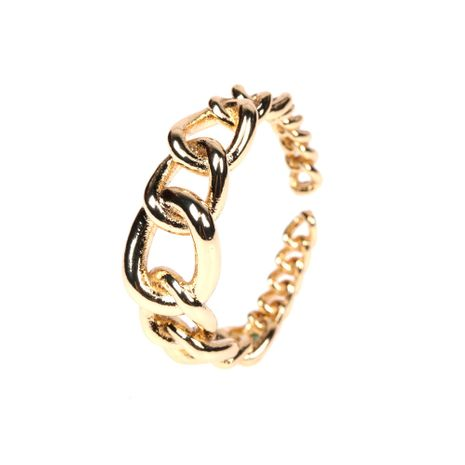 Fashion new retro old fashion 8 word cross index finger ring twisted copper open ring NHPY260044's discount tags