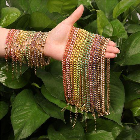 nouveau style hip hop goutte chaîne de couleur à l'huile tendance de la mode hommes et collier en cuivre pour femmes NHPY260046's discount tags
