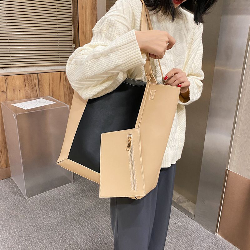autumn new Korean simple ladies large capacity shopping shoulder handbag NHGA260061