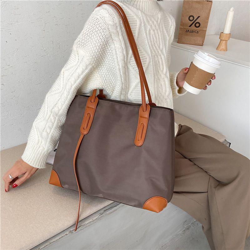 Hot selling fashion waterproof Oxford cloth shoulder handbag  NHGA260080