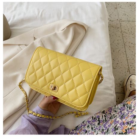 Hot-selling Fashion Lingge Chain One Shoulder Small Square Messenger Bag NHTC260161's discount tags