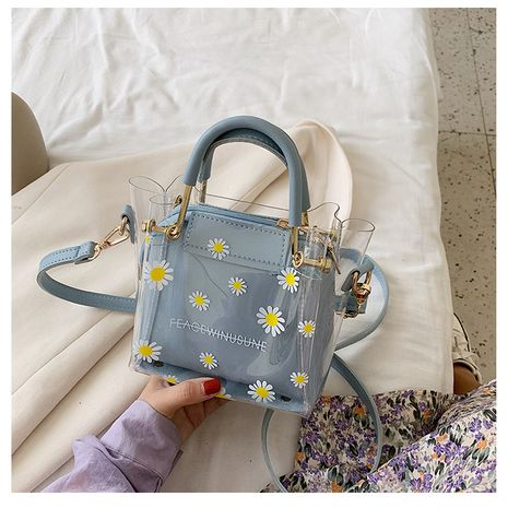 Small summer new trendy one-shoulder messenger fashion transparent jelly women's bag NHTC260180's discount tags