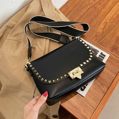 Simple ladies one-shoulder fashion texture messenger small square bag NHLH260203's discount tags