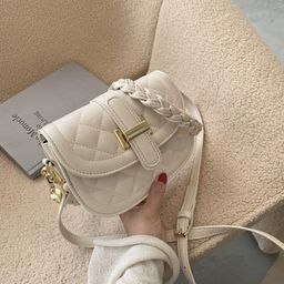 Bolso pequeño bolso de mensajero de hilo de bordado de rombo de moda bolso de hombro único NHLH260205