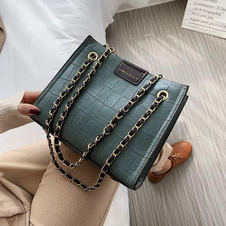 Nuevo bolso de mensajero de un solo hombro simple de la manera del bolso pequeño de las señoras de la textura NHLH260235's discount tags