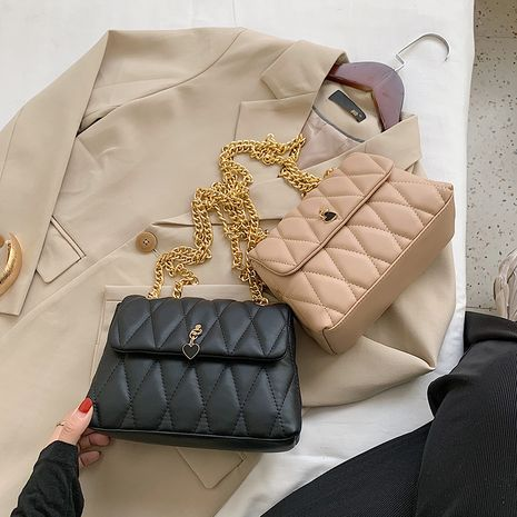 Bolso cuadrado vendedor caliente del mensajero del bolso cuadrado pequeño de un solo hombro del hilo del bordado del rombo de la moda NHLH260243's discount tags
