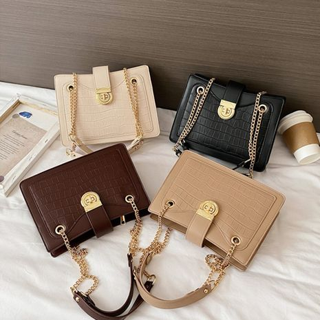 Hot selling fashion stone pattern shoulder bag all-match chain messenger bag NHLH260251's discount tags