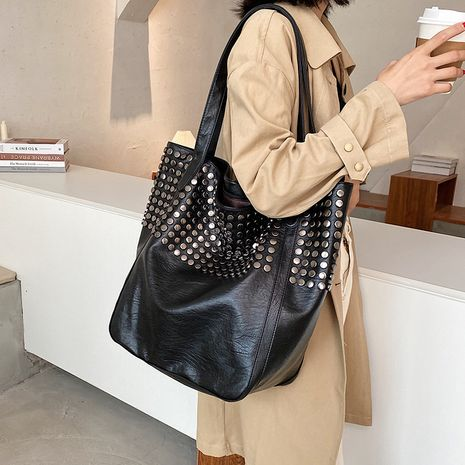 Hot selling fashion retro ladies large-capacity bags all-match shoulder bag  NHLH260257's discount tags