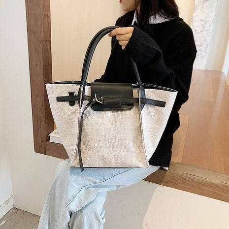 Hot selling fashion large-capacity canvas bag wholesale NHLH260264's discount tags