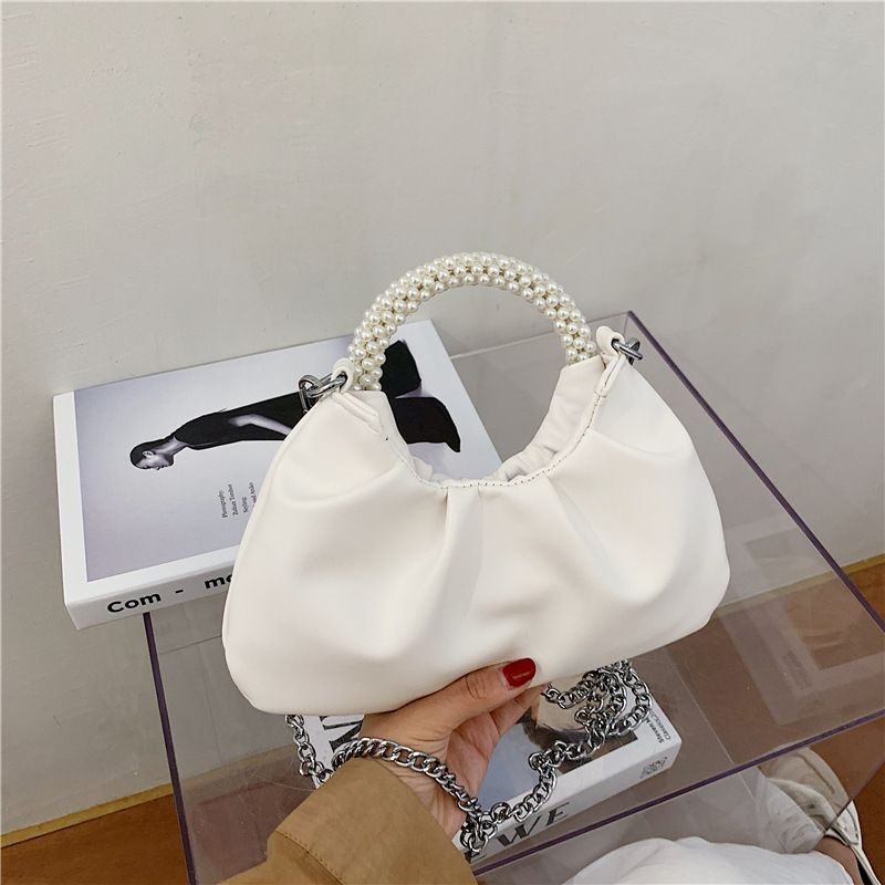 new trendy fashion pearl wild chain messenger small ladies handbag  NHLH260281