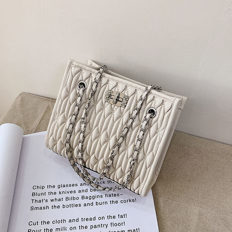 small summer new trendy fashion one-shoulder chain all-match messenger fold bag NHLH260285's discount tags