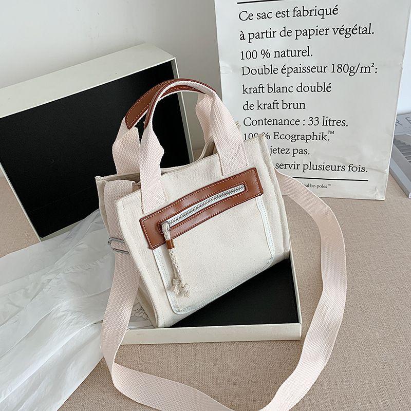 Hot selling fashion canvas one shoulder handbag wholesale NHLH260288