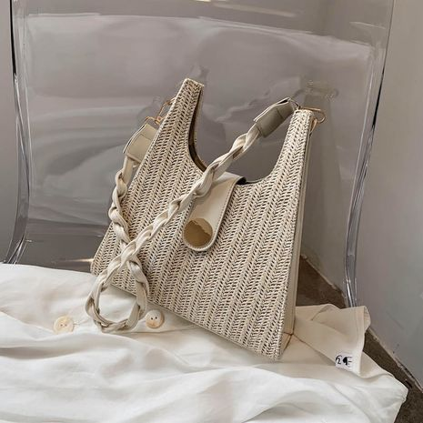 Popular new trendy fashion woven one-shoulder bag NHLH260298's discount tags