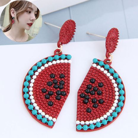925 Silver Needle Korean Fashion Sweet Concise Fruit Watermelon Personality Earrings NHSC260328's discount tags