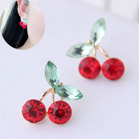 Korean fashion sweet OL cherry personalized earrings NHSC260327's discount tags