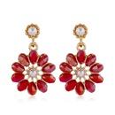 Korean fashion sweet OL daisy flower crystal earrings NHSC260323