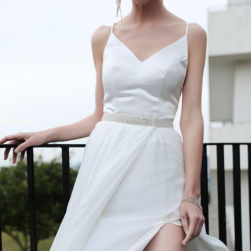 hot sale new handmade diamond girdle wedding dress bridal belt NHHS259882