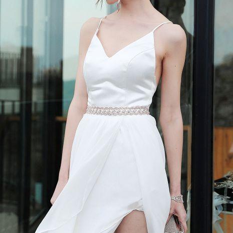 nouvelle ceinture robe de mariée mariée chaîne de taille cloutée de diamants ceinture tressée en cristal sauvage NHHS259881's discount tags