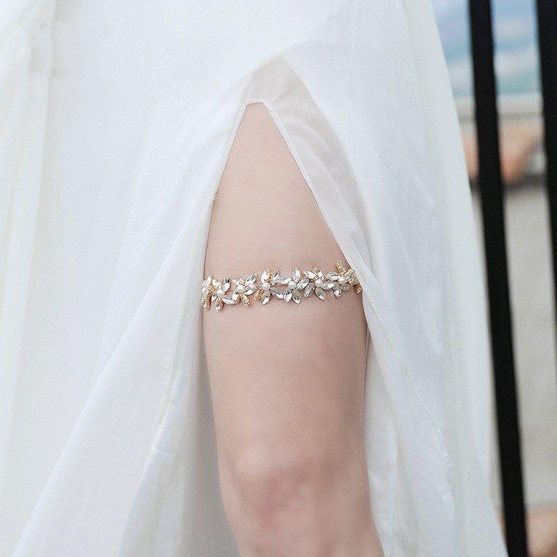 Fashion new trend garter hot-selling pearl flower diamond bridal leg belt jewelry NHHS259856