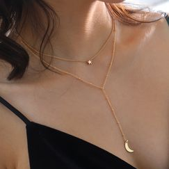 Collier multicouche en or Little Star Crescent Bay NHAN251858
