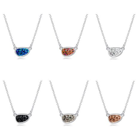 Fashion Crystal Cluster Necklace Imitation Natural Stone women's necklace NHAN251895's discount tags