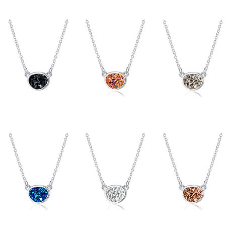 Hot Selling Shaped Round Pendant Fashion Crystal Cluster Imitation Natural Stone Necklace  NHAN251904's discount tags