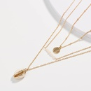 Fashion gold coin freshwater pearl pendant multilayer necklace for women wholesale NHAN251920