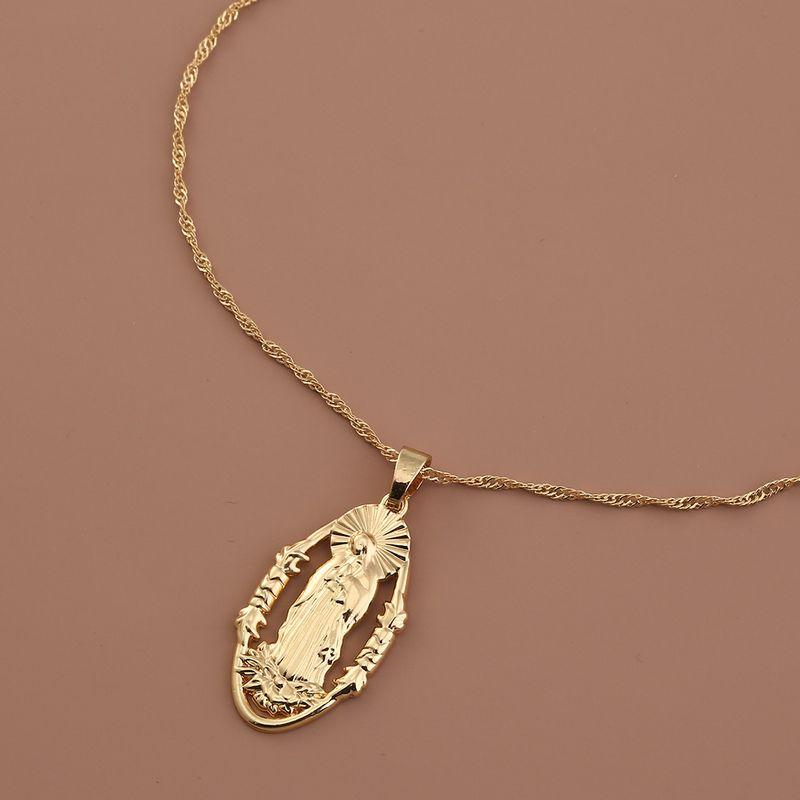 Beauty fashion Religion Humanoid Virgin Mary Wild Metal  Necklace NHAN251962