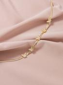 Fashion Diamond Butterfly  womens Necklace  NHGU251983