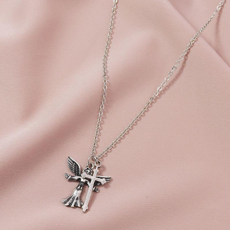 Hot selling Fashion Angel Cross women's  Necklace Set  NHGU251987