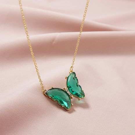 Hot selling  Fashion Jewelry Butterfly Pendant women's Necklace  NHGU251989's discount tags