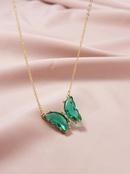 Hot selling  Fashion Jewelry Butterfly Pendant womens Necklace  NHGU251989