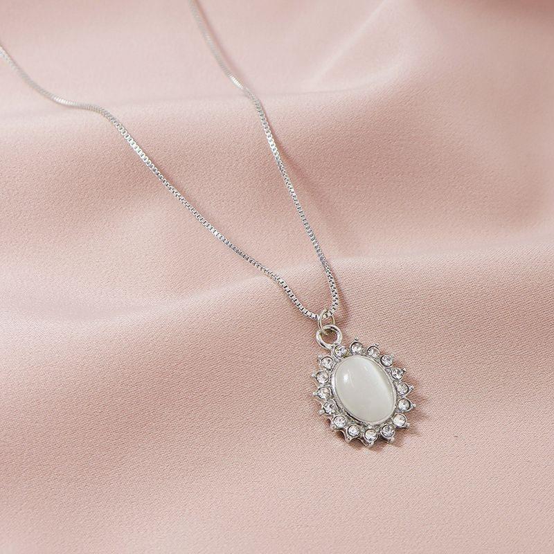 Hot selling  Fashion Diamond Pendant womens Necklace wholesale NHGU252009