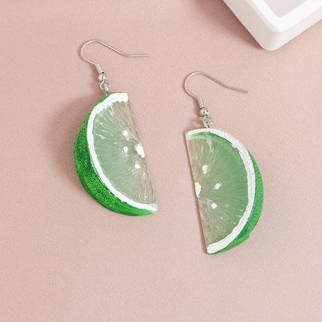 Fashion  new fruit element green orange hot sale earrings NHGU252026's discount tags