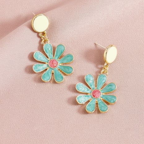 Fashion Hot Sale Metal Drop Oil Color Flower alloy Earrings for women NHGU252036's discount tags
