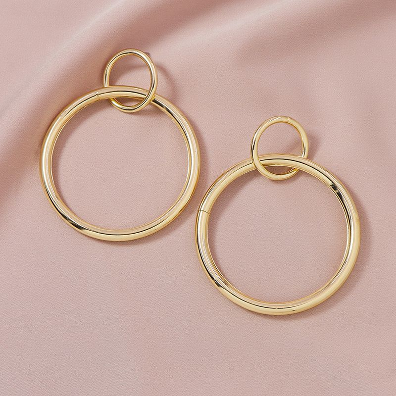 Fashion new Pair of Metal Circle HotSelling Exaggerated alloy Earrings  NHGU252053