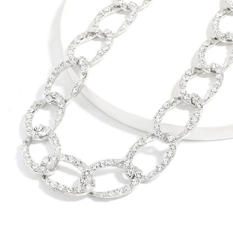 Fashion alloy diamond-studded rhinestones women's  necklace NHJE252081