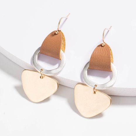 vente chaude de nouvelles boucles d'oreilles en alliage de cuir argent sable or sable vintage NHAN252088's discount tags
