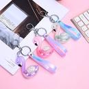 Korea creative swan  laser diamondstudded acrylic keychain wholesale  NHAE252095